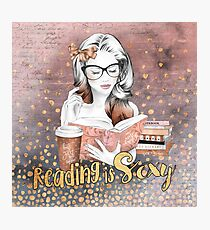 Reading is Sexy Photographic Print