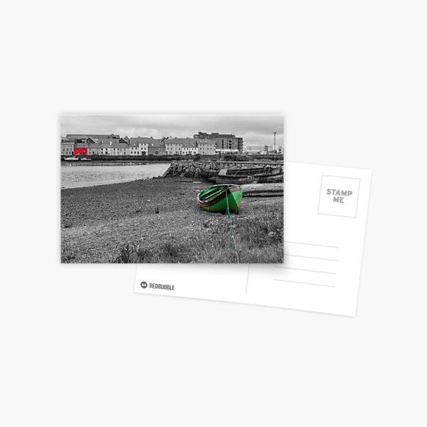Blick auf den Hafen von Galway Postkarte