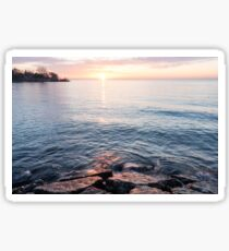 Rough and Soft - Silky Water and Hard Rocks at Sunrise Sticker