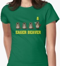 Eager Beaver! Women's Fitted T-Shirt