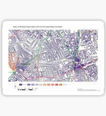 Multiple Deprivation Ferndale ward, Lambeth Sticker