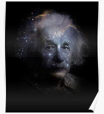 Póster Albert Einstein Genius Space Cosmos Galaxy Universe