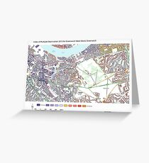 Multiple Deprivation Greenwich West ward, Greenwich Greeting Card