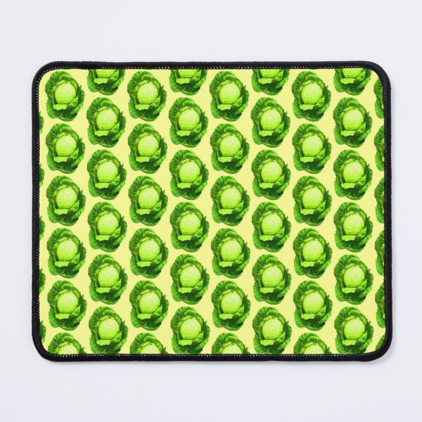 White cabbage color vegetable Mouse Pad