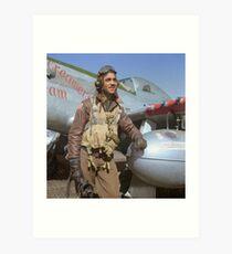 Edward C. Gleed Tuskegee airman — Colorized Art Print