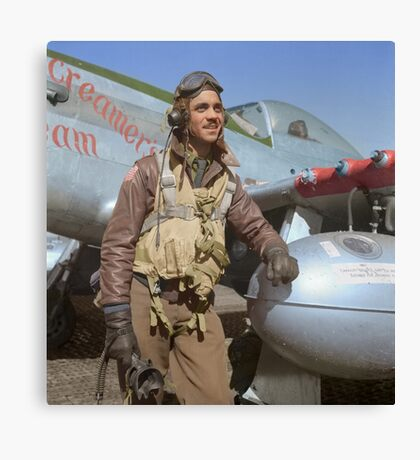 Edward C. Gleed Tuskegee airman — Colorized Canvas Print