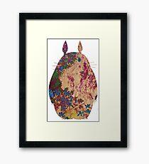 Totoro from Hayao Miyazaki - used look Framed Print