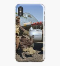 Edward C. Gleed and two other Tuskegee airman — Colorized  iPhone Case