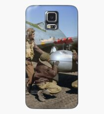 Edward C. Gleed and two other Tuskegee airman — Colorized  Case/Skin for Samsung Galaxy