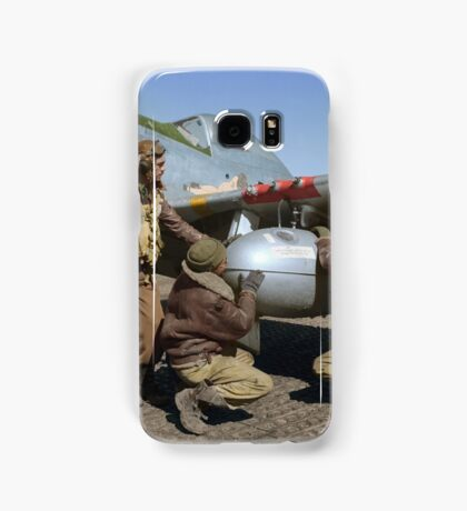 Edward C. Gleed and two other Tuskegee airman — Colorized  Samsung Galaxy Case/Skin