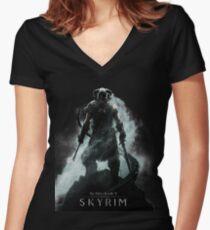 skyrim Women's Fitted V-Neck T-Shirt