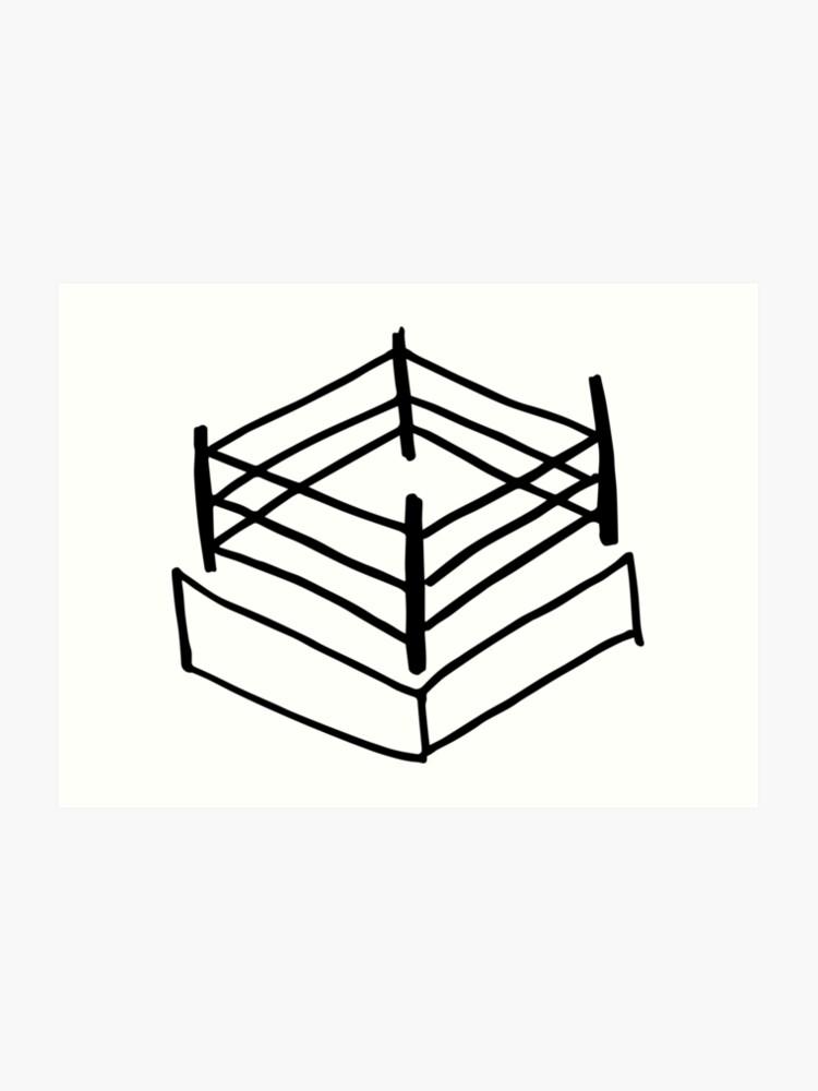 Wrestling RIng | Art Print