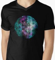 Sacred Geometry: Flower Of Life / Tree Of Life (Painted Cosmos II) Men's V-Neck T-Shirt