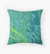 Abzu Paintover Throw Pillow