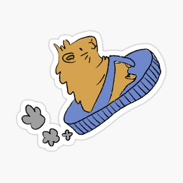 Artemis Driving Flip Flop Sticker