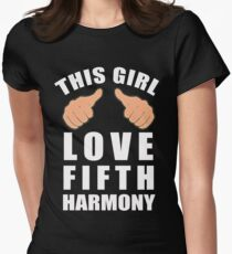 THIS GIRL LOVE FIFTH HARMONY Womens Fitted T-Shirt