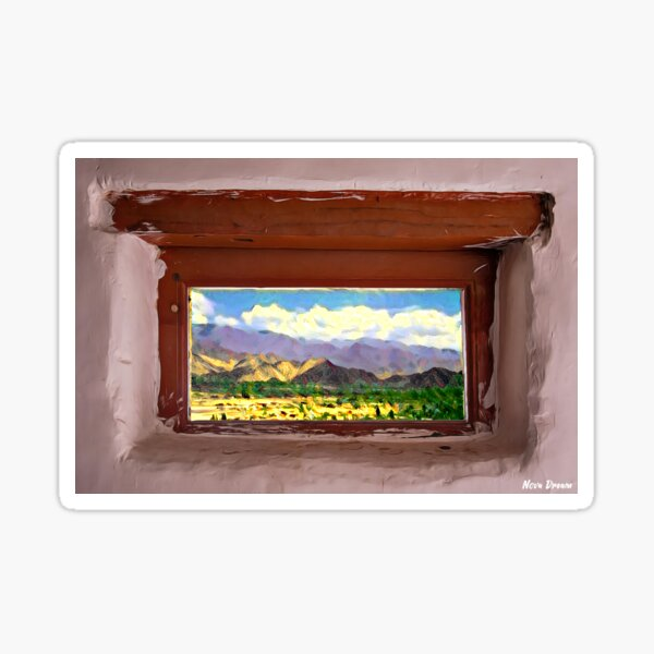 A Window to the World - Leh Sticker