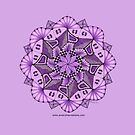 Purple Mandala by Genevieve Crabe