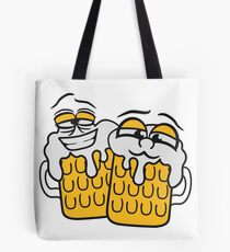 friends team crew cool funny face alive comic cartoon thirst logo beer pitcher drinking drinking party celebrate drinking alcohol symbol cool shirt oktoberfest Tote Bag