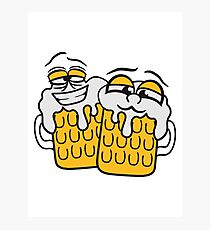 friends team crew cool funny face alive comic cartoon thirst logo beer pitcher drinking drinking party celebrate drinking alcohol symbol cool shirt oktoberfest Photographic Print