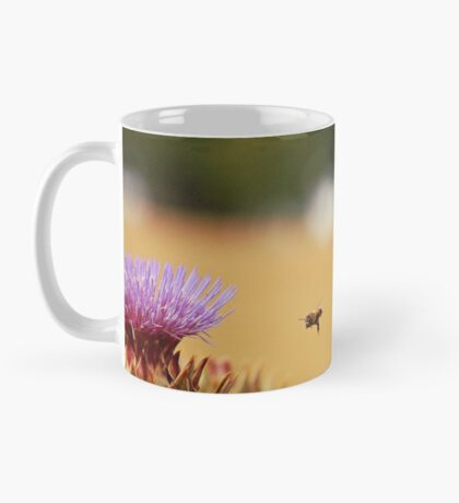Bee, Thistle and Field of Wheat Mug