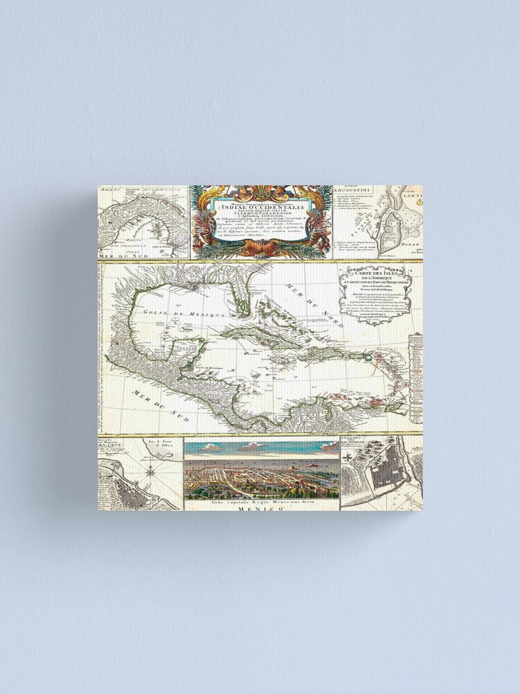 Alternate view of Old maps 2 Canvas Print