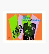 Elvis Costello Attractions Art Print