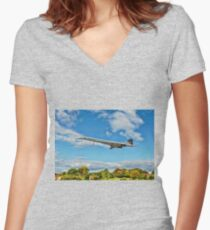 Concorde On Finals Women's Fitted V-Neck T-Shirt