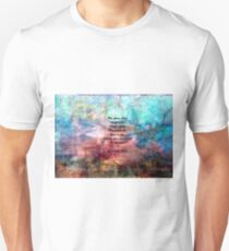 Challenging Fear Rumi Uplifting Quote With Beautiful Underwater Painting Unisex T-Shirt