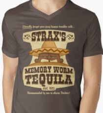 Strax's Memory Worm Tequila Men's V-Neck T-Shirt