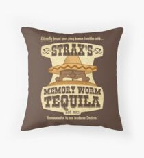 Strax's Memory Worm Tequila Throw Pillow