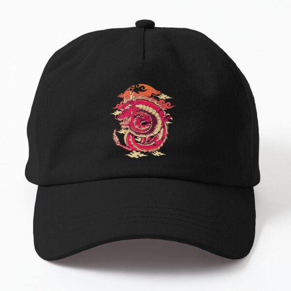 Chinese Red Dragon Dad Hat