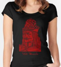 Vlad Dracula Tepes The Impaler Vampire Women's Fitted Scoop T-Shirt
