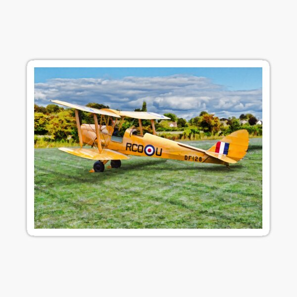 De Havilland Tiger Moth Sticker