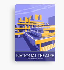 The National Theatre, South Bank, London Metal Print
