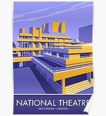 The National Theatre, South Bank, London Poster