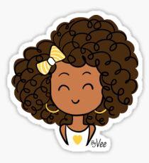 Little Curly Girl Sticker