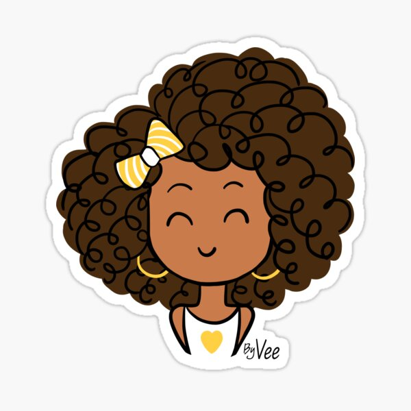 Little Curly Girl Sticker
