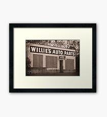 Willie's Framed Print
