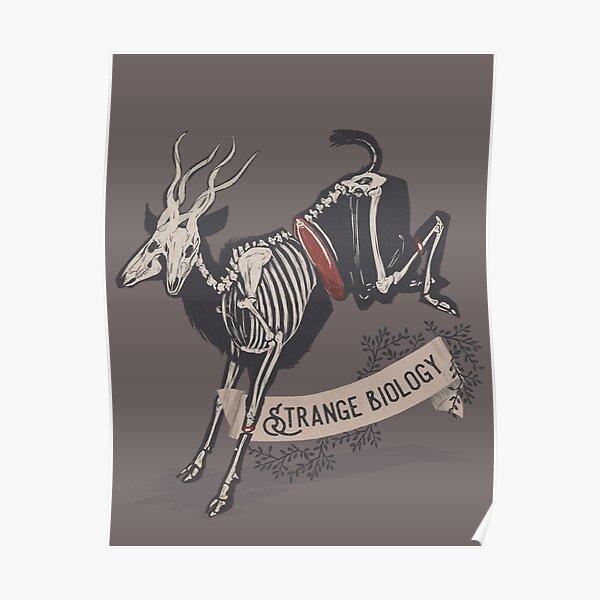 Strange Biology Rustic Antelope Skeleton Poster