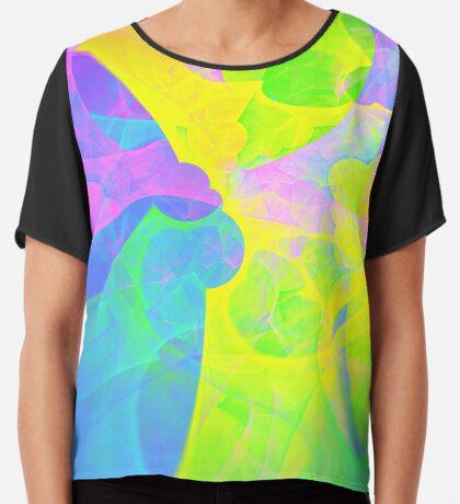 Bright #Fractal Art Chiffon Top