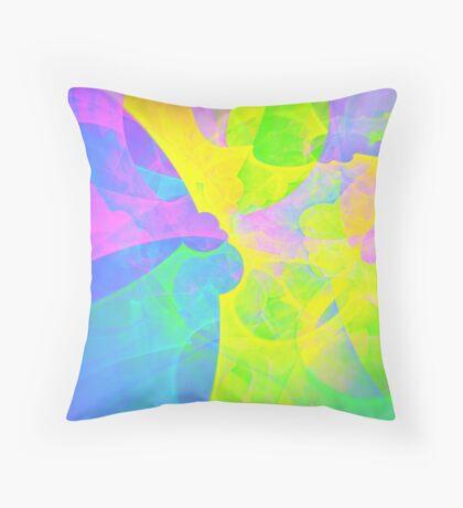Bright #Fractal Art Throw Pillow