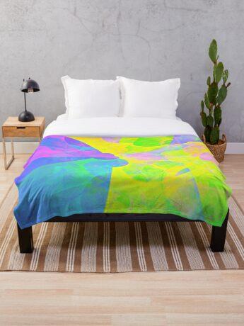 Bright #Fractal Art Throw Blanket