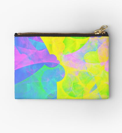 Bright #Fractal Art Zipper Pouch