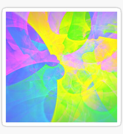 Bright #Fractal Art Sticker