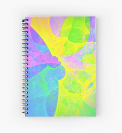 Bright #Fractal Art Spiral Notebook