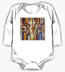 Abstract Colorful Art Design One Piece - Long Sleeve