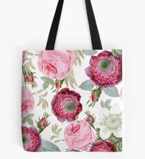 Vintage Botanical Roses Tote Bag