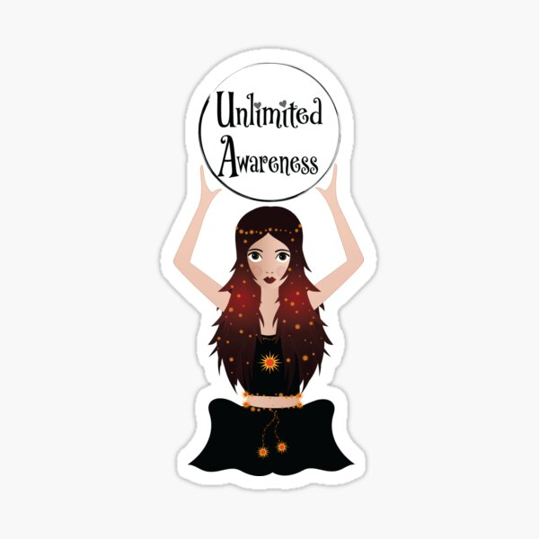 Magic girl with Unlimited Awareness Sticker