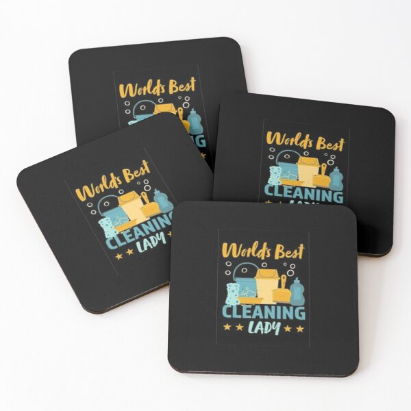 Best Cleaning Lady Gift Coasters (Set of 4)